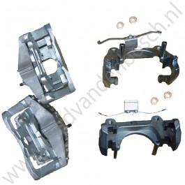 Remklauwset inclusief brackets 16+'' 314mm, Saab 9-3 v2, 9-5 upgrade, org.nr. 93176378  Rechts: 93176376 Links: 93176375