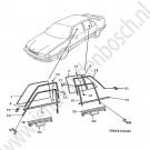 Ruit portier Saab 9000 Voor + Achter Bouwjaren 1991 - 1998 Org.nr LV: 4550943 RV: 4550935 LA: 4306239 RA: 4306221 LA^ 4306254 4765178 RA^ 4306247 465160