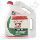 Motorolie, 15W-40, GTX High mileage, Castrol, Semi-synthetisch, ond.nr. 93165220