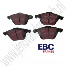 Voorremblokkenset, EBC ULTIMAX, 345mm Saab 9-3 versie 2 ,17+ inch Turbo X,  ond.nr. 93195754