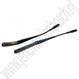 Ruitenwisserarm, set, flatblade, Origineel, Saab 9-3 v2 bj: 2003-2012, ond.nr. 12778385, 12778387