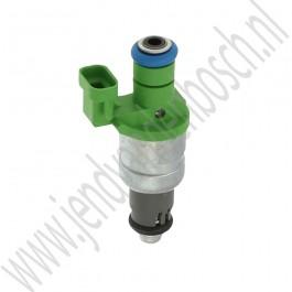 Injector, groen, Gebruikt, Saab 9-3v2 Aero, B207R, bj 2003-2006, ond.nr. 12790827, 12801656