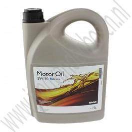 5W30 motorolie, synthetische basis, Origineel, 5 Liter, Saab 9000, 900 NG, 9-3 versie 1, 9-3 versie 2 en 9-5, ond. nr. 93165557, 93165212, 32019632, 95599581, 93165211