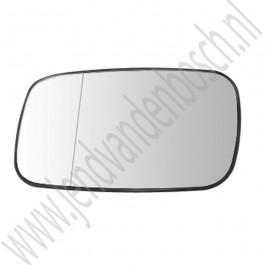 Spiegelglas, links,  Saab 900ng, 9-3v1, 9-5, bj 1994-2002 Ond.nr. 4818068, 4643706 , 4684940, 4420006, 4824157, 4818050, 4684999, 4471132