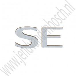 SE embleem, Origineel, Saab 9-3v1, 9-5, bj 1998-2002, ond.nr. 4958153