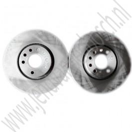 Voorremschijf, OE-kwaliteit, 16 inch, 308 mm, Saab 9-3 v1 Viggen en 9-5 Aero, bj. 1998 tm 2010, art.nr. 5391560, 9184405, 4567798, 5055389, 32019580