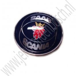 Achterklepembleem, Saab Scania, origineel, Saab 9-5 Estate, bouwjaar: 1998 tm 2001, ond. nr. 4911574