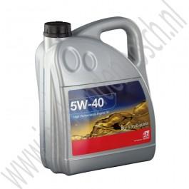 Motorolie, 5W-40, OE-Kwaliteit, 5L, Saab 900NG, 9000, 9-3v1, 9-3v2, 9-5