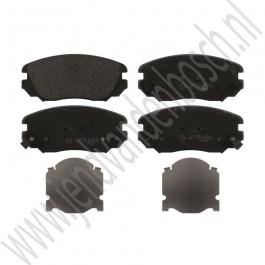 Voorremblokkenset, 16 inch, OE-Kwaliteit, Saab 9-5ng, bouwjaar 2010-2012, ond.nr. 13237750, 32017995