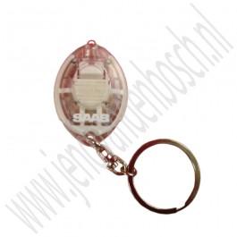 Originele Saab sleutelhanger met LED-lampje