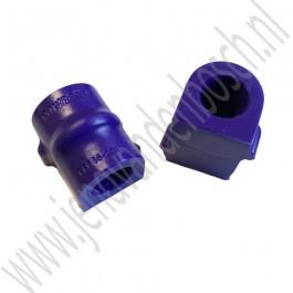 Stabilisator rubber voorzijde, 21mm, Powerflex, Saab 9-5, bouwjaar 2002 tm 2010, ond. nr. 5235742, 12781132