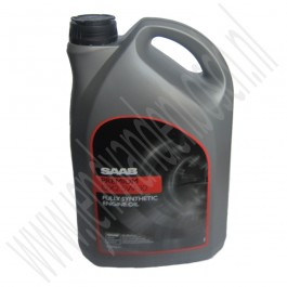 5 liter originele Saab Premium DX2 5W-30 motorolie, synthetische basis, Saab 9-3v1, 9-3v2, 9-5, 900, 9000 ond. nr. 93165557, 93165212