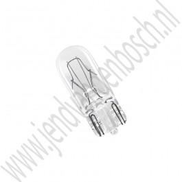W5W 5 watt steeklampje, T10 fitting, Saab 900 Classic, 900NG, 9000, 9-3v1, 9-3v2, 9-5, ond.nr. 989795