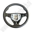 Sport stuurwiel, volleder, nieuwe type, Origineel, Saab 9-3v2, bj 2006-2012, ond.nr. 12774365, 12757872, 12757703