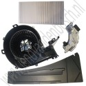 Kachelventilatorset + modificatie, ACC, Saab 9-3v2, bj 2003-2012, ond.nr. 13250115, 13250114, 12765989, 9179904
