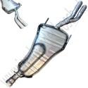 Einddemper, dubbele eindpijp, OE-Kwaliteit, Saab 900NG, 9-3v1, ond.nr. 5467204, 4235990, 400105599