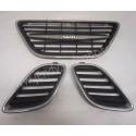 Grill, gebruikt, Saab 9-5, bouwjaar 2002 tm 2005, org. nr. 5289681  5336151 5289699 5336169 5289707