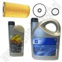 Oliewisselset, kleine beurt, Saab 9-3 v1 en v2, 9-5, 2.2 TiD, ond nr. 93165212, 93165554, 9117321, 9132937