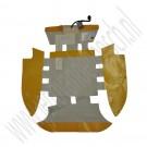 Mat stoelverwarming, origineel, sportstoel, Saab 9-3 versie 2, bouwjaar 2003 tm 2012, org. nr. 12783122