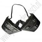 Audio schakelaar, Mat zwart, Gebruikt, Saab 9-3v2, bj 2004-2012, ond.nr 12786152, 12759539