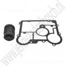 Oliefilter en pakking, achterdifferentieel XWD, Origineel, Saab 9-3 v2, 9-5NG, bj 2008-2012, ond.nr. 20986573, 20946129