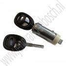 Slotcilinder, met twee sleutels, Origineel, Saab 9-3 v1, 9-5, bj 1998-2010, ond.nr. 5510110, 32017855