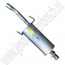 Einddemper, origineel, Saab 900NG en 9-3 versie 1, injectie, bouwjaar 1994 tm 2000, org. nr. 5174990, 4896254, 4904785, 32016133, 32019391