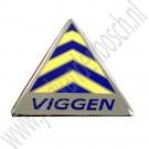 Viggen embleem, Saab 9-3 Viggen, bj 1999-2003, ond.nr 32020132, 5121629