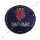 Embleem achterklep, origineel, Saab 9-3 versie 1 cabrio, bouwjaar: 2001 tm 2003, ond. nr. 5289897, 4910915