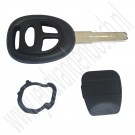 Ongeslepen sleutel met deksel, aftermarket, Saab 9-5, bouwjaar 2003 tm 2010, org. nr. 5363015, 32018042