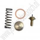 Oliekoeler thermostaat set, Origineel, Saab 900 Classic, 9000, 900NG, 9-3v1, 9-5, ond.nr. 5958848, 55557392, 9300591, 30520353, 7520372