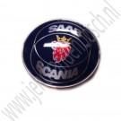 Embleem motorkap, origineel, Saab Scania,  Saab 900 classic, 900NG, 9000 en 9-3 Versie 1, bouwjaar: 1986 tm 2000, ond. nr. 6911895 4522884