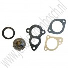 Thermostaat set, 88 graden, incl pakkingen, Saab 95, 96, Sonett, V4, ond.nr. 8816563