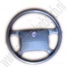 Lederen stuur, origineel, gebruikt, Saab 9000, laatste type, bouwjaar: 1994 tm 1998, ond. nr. 4506069, 400103677, 400107751, 4847471