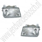 Koplamp, Links en of rechts, Saab 9000 CC en CD, bouwjaar 1988 tm 1995, ond. nr. L: 9125279, R: 9125287