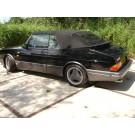 Saab 900 cabrio classic zwart bj 1991 met comfortabel vermogen van 405 Nm. en 275 pk !