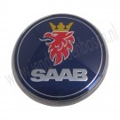 Embleem achterklep, origineel, Saab 9-3 versie 2 Sedan vanaf 2008, Estate vanaf 2005 en Cabrio vanaf bouwjaar 2004 tm 2010, org. nr 12844160 12769689 12831661 4911541
