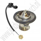 Thermostaat en 1/8ste sensor set, 82 graden, Origineel, Saab 9000, 900NG, bj 1996-1998, ond.nr. 8817538, 9182270