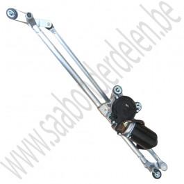 Ruitenwisser mechanisme, voorruit, met motor, Origineel, Saab 9-3v2 LHD, bouwjaar 2003 tm 2012, org. nr. 12757154 12755304, 12757153