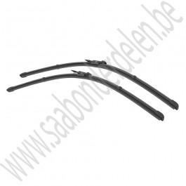 Ruitenwisserbladen, set, flat blade, Origineel, Saab 9-3v2, bj 2008-2012, org. nr. 12778383