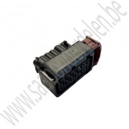 Stekker behuizing, Origineel, 16-polig, koplamp, Saab 9-3v2, bj 2008-2012, ond.nr. 12790000