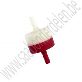 Terugslagklep, rood/wit, aftermarket, Saab 900, 9000, 9-3, 9-5, bj 1986-2010, ond.nr. 12793343, 9326752, 4023297, 4301669