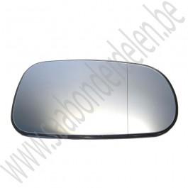 Rechter buitenspiegelglas, aftermarket, Saab 9-3v2, 9-5 , bj 2003-2010, ond.nr. 12795613, 12795611, 5512306, 32019792