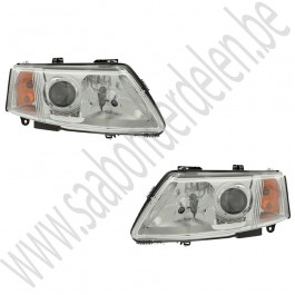 Tweedehands org. xenon koplamp, Saab 9-3V2, left hand drive, bj. '03-'07, art. nr. 12797388 links, 12797389 rechts