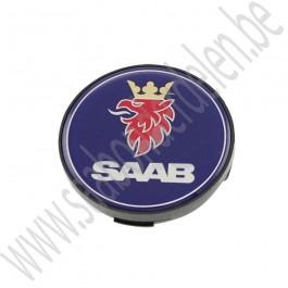 Wielnaafdop met zwarte rand, origineel, Saab 9000, 900ng, 9-3v1, 9-3v2, 9-5, bj 1998-2012, ond. nr.12802437