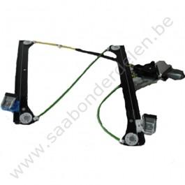 Mechanisme raambediening, elektrisch, links, origineel, Saab 9-3 versie 2, bouwjaar 2003 tm 2012, ond. nr. 12758920 12842436 ,