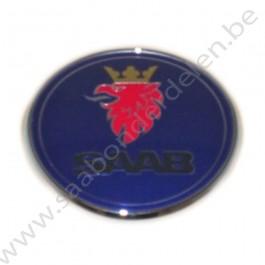 Embleem, motorkap, origineel, 67 mm, Saab 9-5 en 9-3 Versie 2, bouwjaar 1998 tm 2012, ond. nr. 12844161, 12769686