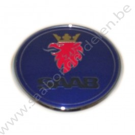 Embleem, motorkap, aftermarket, 67 mm, Saab 9-5 en 9-3 Versie 2, bouwjaar 2001 tm 2012, ond. nr. 12844161, 12769686