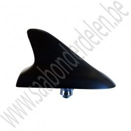 Haaienvin, dummy, zijdeglans zwart, Saab 9-3v1, 9-3v2, 9-5, 9-5NG, bj 2000-2012, ond.nr. 12848965, 13324062, 11027778