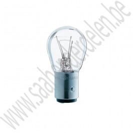Lampje 21-5W achter- en remlicht, kleurloos, BAY15D, 900, 90000, 9-3, 9-5, ond.nr. 93190467, 4320594